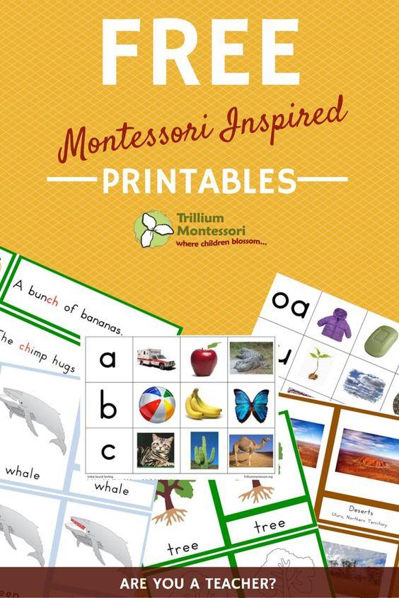 Free Montessori Printables