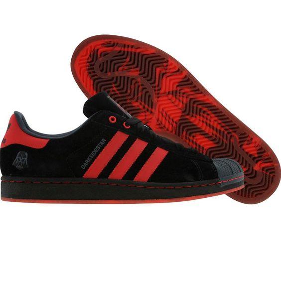 Adidas x CLOT Superstar II - Darth Vaider (black1 / light red). $199.99