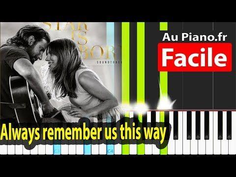 Always Remember Us This Way Piano Facile Tutorial Karaoke Lady