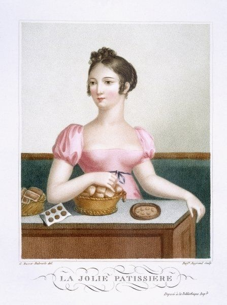 The Pretty Pastry Cook, c.1816 by Madame G. Busset-Dubruste: