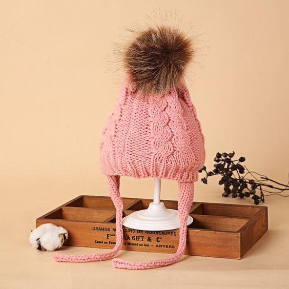 Coton Doux Bonnet Filles Garçons Tricot Chapeau Toddler Infant Newborn Warm KIDS BABY Cap