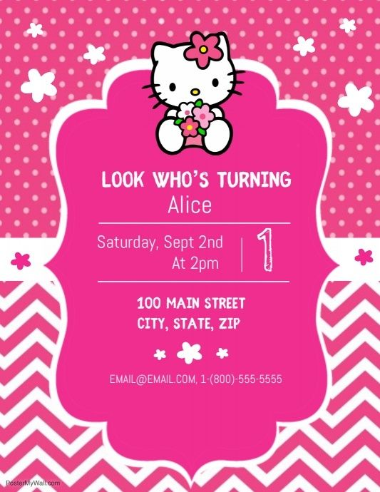 Hello Kitty Party Hello Kitty Party Hello Kitty Invitations Hello Kitty Invitation Card