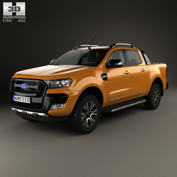 ford ranger double cab wildtrak 2016 3d model from hum3d. Black Bedroom Furniture Sets. Home Design Ideas