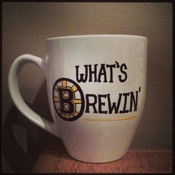 What's Brewin (Bruins) coffee mug