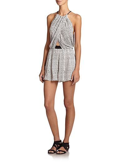 Atlanta Crossover Short Jumpsuit $210.0 by Saks Fifth Avenue