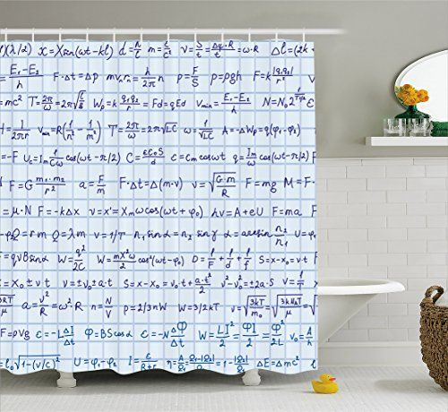 Blue Decor Shower Curtain By Ambesonne School Decor Scie Https