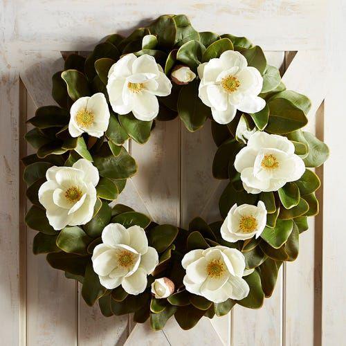 28 Faux Magnolia Oversized Wreath Faux Magnolia Wreath Magnolia Wreath Diy Magnolia Wreath