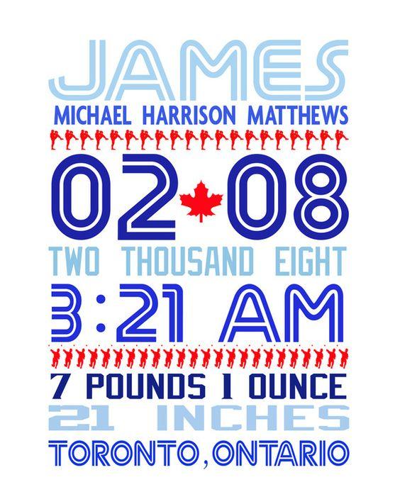 Toronto Blue Jays Birth Announcement Kids stuff – Toronto Birth Announcements