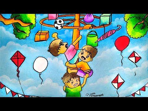 Cara Menggambar Dan Mewarnai Tema Lomba 17 Agustus Kemerdekaan Ri Yang Bagus Dan Mudah Ep 206 Youtube Cara Menggambar Pelajaran Seni Gambar