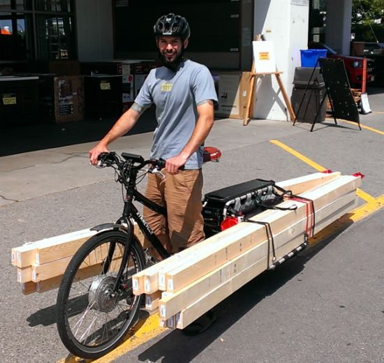 Hauling A Few Hundred Pounds Of Lumber By Edgerunner Bicycle