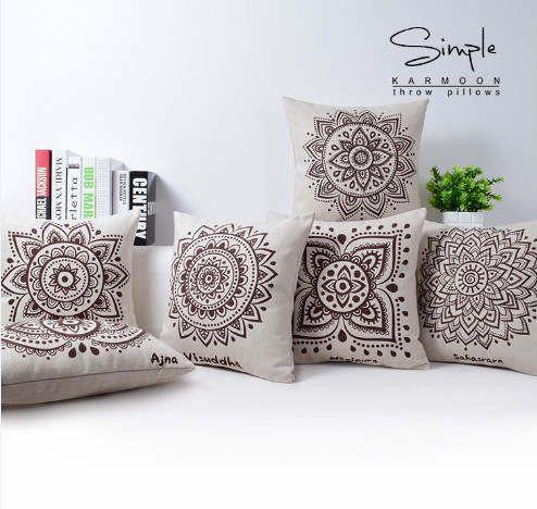 Cojines Sofa Online.Tienda Online Funda De Cojin De Mandala Decoracion Del Hogar