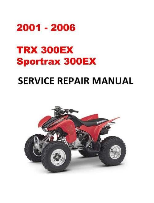2001 2006 Trx300ex Sportrax Service Repair Workshop Manual Repair Repair Manuals Light Switch Wiring