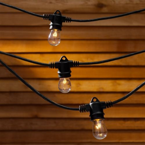 string lights 35 feet long with 7 light bulbs included vintage