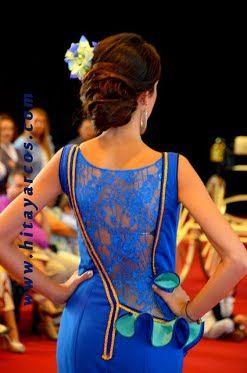 Vestido flamenca espalda asimetrica