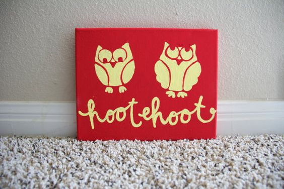 Owls are a Hoot 8in by 10 in on Canvas: