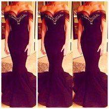 Sexy Hot chérie Neck Tank noir sans manches serrées longues robes de bal robe pour le bal 2016 sirène longue de bal robes de soirée(China (Mainland))