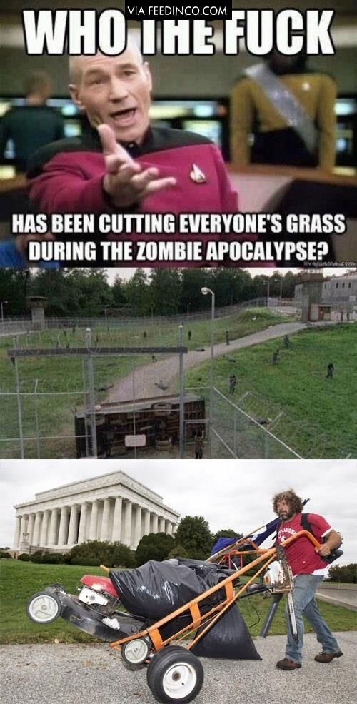 Jesus that is who! Jesus is the best gardener not even zombies can touch him.