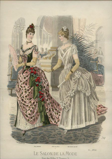 Le salon de la mode 1886 1886s fashion plates pinterest la mode and salons - Le journal de la mode ...