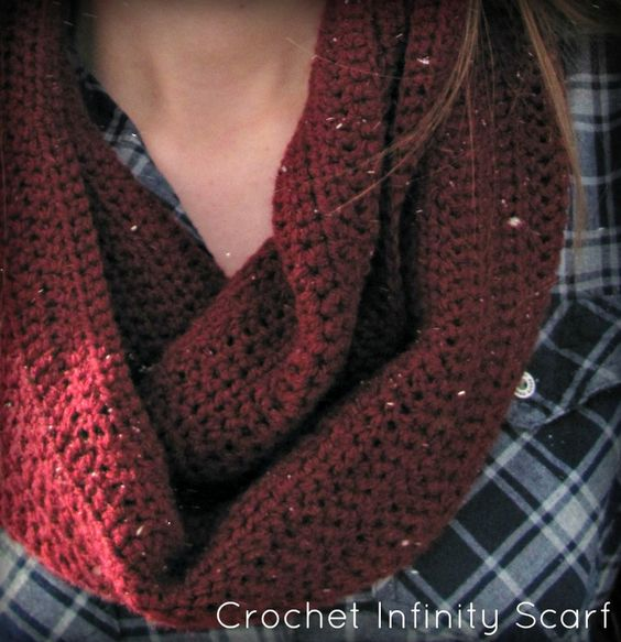 Cute Infinity Scarf Crochet pattern via Touché Crochet | Crochet ...