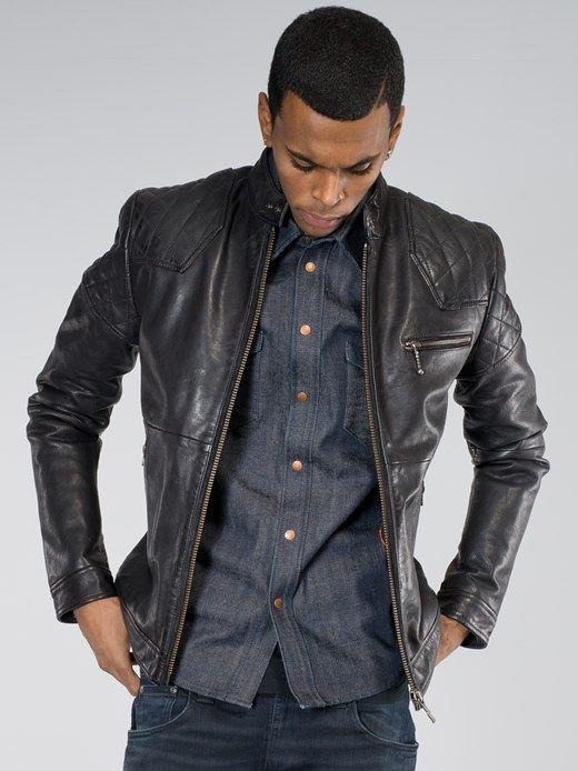 Keith Leather Jacket Black - Nudie Jeans Online Shop | The Big ...