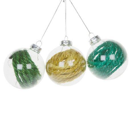 Boules Couleurs Jute (Lot de 3) - Décoration - Collection - Noël | Zara Home Canada