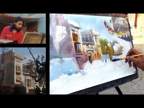 Old Lahore In Watercolor Cityscape Painting Tutorial For