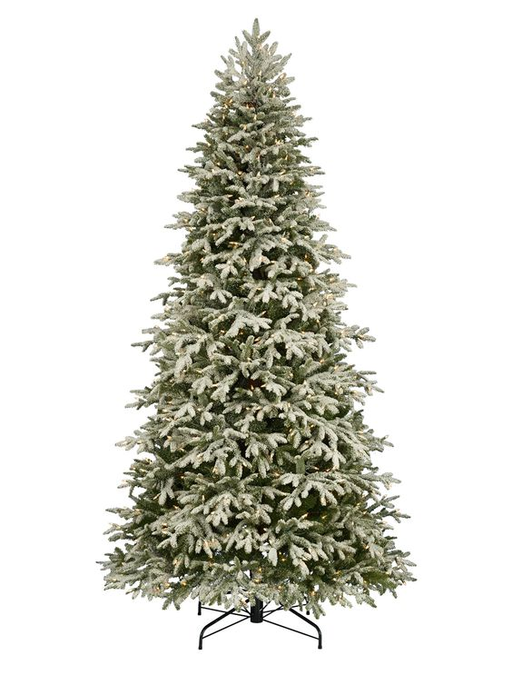 Frosted Fraser Fir Narrow Artificial Christmas Tree Might