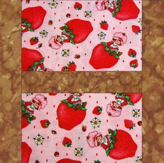Strawberry Shortcake Pink Pre-Cut Quilt Blocks Kit