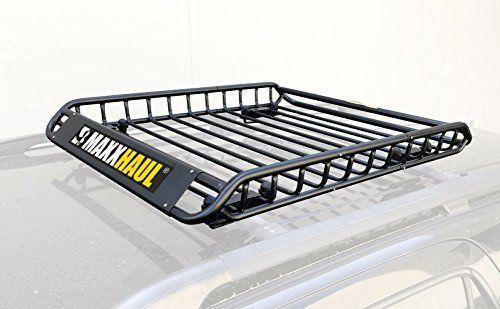 Maxxhaul 70115 Universal Steel Roof Rack Car Top Cargo Carrier