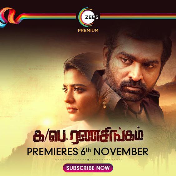 Critically acclaimed Ka Pae Ranasingam premieres 6th November on ZEE5