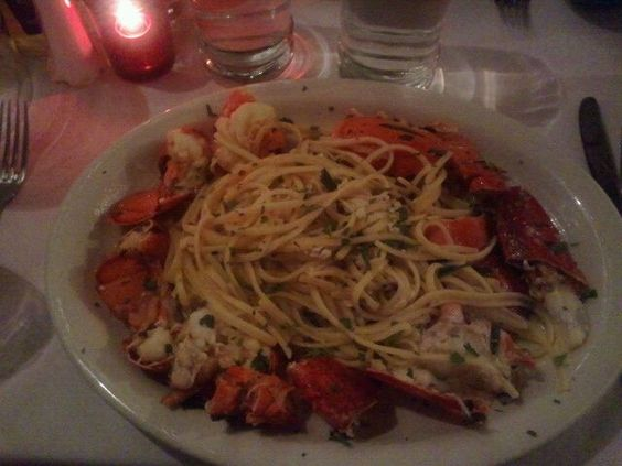 Lobster and pasta in a white wine sauce
