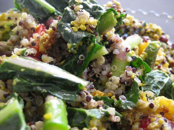 Meatless Mondays: Kale, Quinoa & Falafel Salad | The Veggie Blog