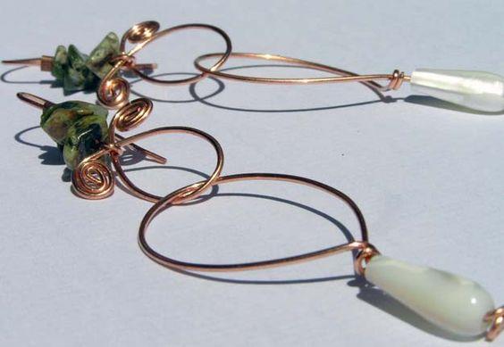Garden Earrings https://www.etsy.com/shop/Rosewire