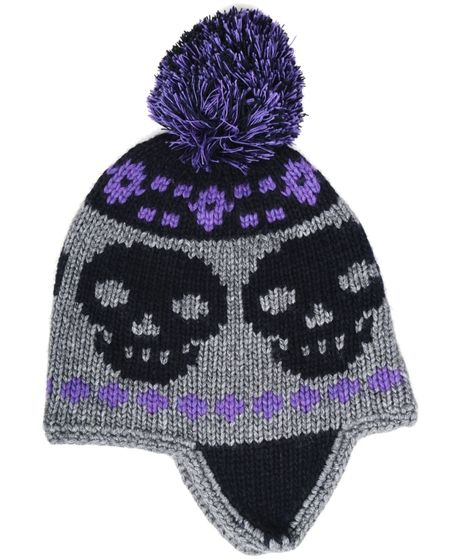 Skull Pom Pom Hat | $120 | Autumn Cashmere