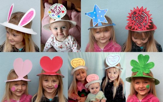 paper plate hats!! Easy and fun.