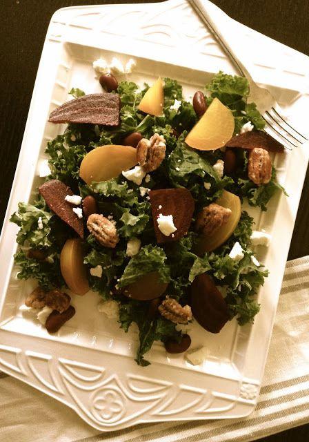 Edible Life in YYC: Organic Kale & Roasted Beet Salad