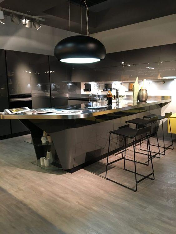 Luxus Küchen Designs Modern Kompakt Einrichtung Gelbe Oberflächen   Kuchen  Design Vom Feinsten Modernes Kuchenprogramm Von