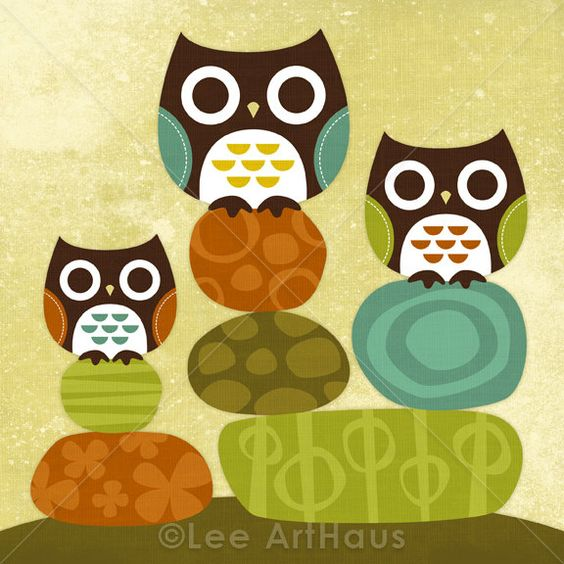 """""""Owls on Stacked Rocks"""""""