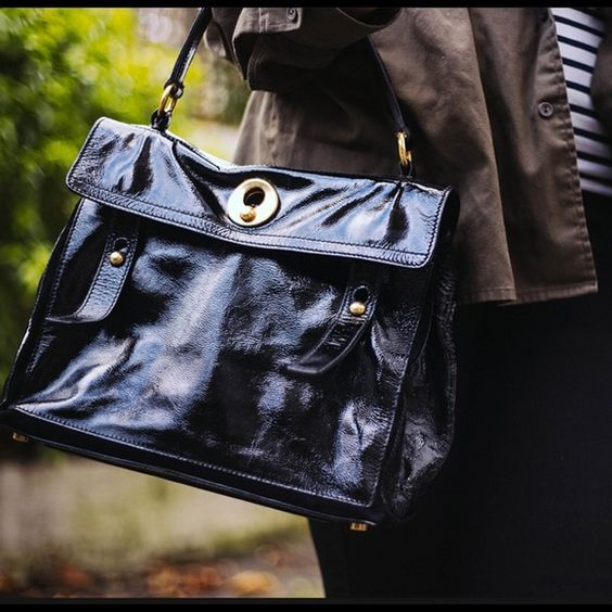 ysl black patent bag