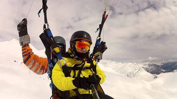 009237 paragliding gudauri полеты гудаури