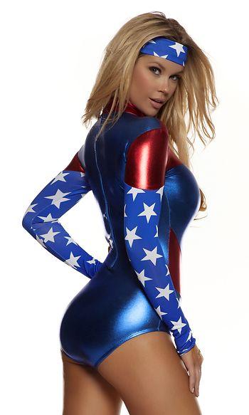 Women's Costumes - The American Dream Superhero Costume