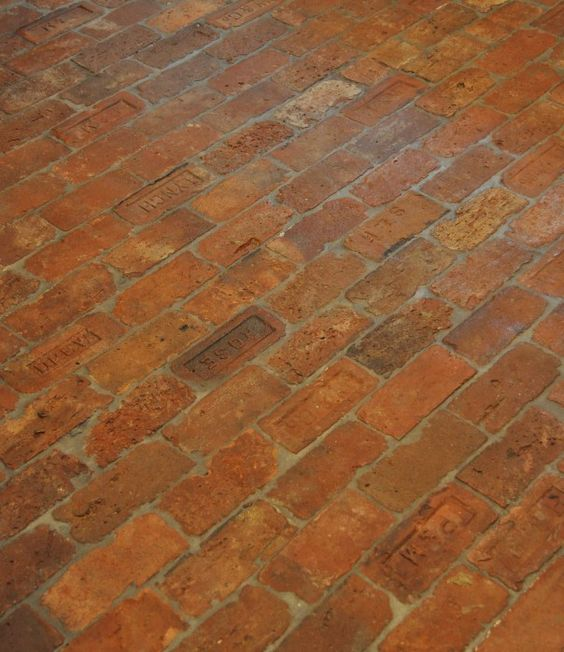 Old Brick Floor In The Kitchen Bricks And Stone