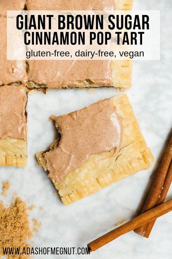 Giant Brown Sugar Cinnamon Pop Tarts - Gluten-Free and Vegan