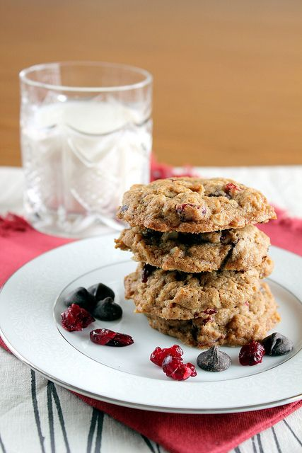 cherry chocolate chunk oatmeal cookies by pastryaffair