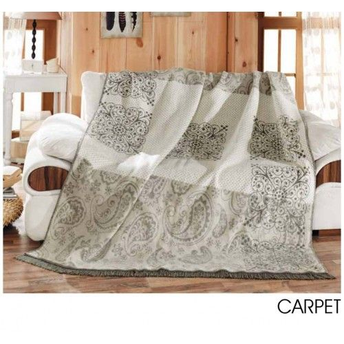 Aksu Carpet Tek Kişilik Pamuklu Battaniye