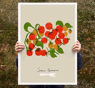 La Cucina Print - cheery tomatoes
