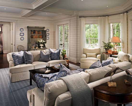 Living room new england style design pictures remodel for New england style living room