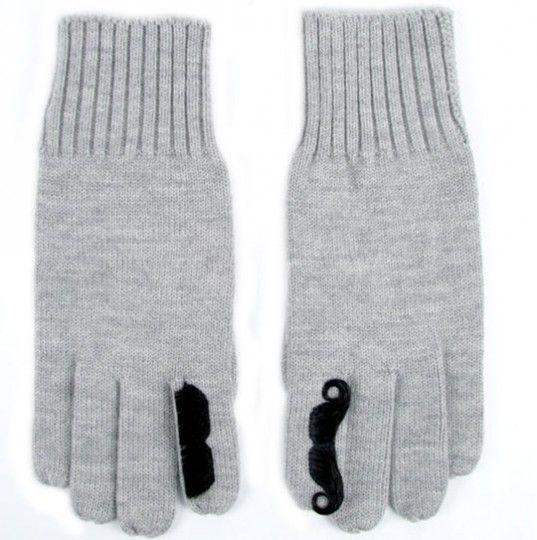 moustache gloves