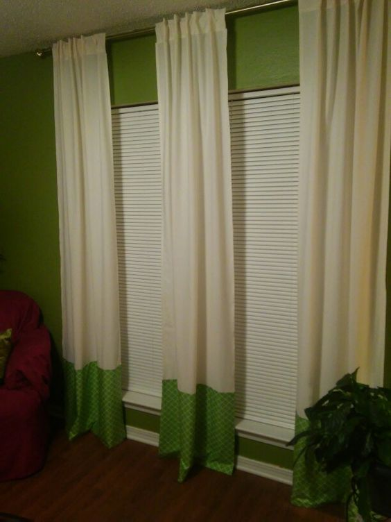 Diy Curtains Made Out Of Two Twin Sheets Things We 39 Ve Done From Ideas From Pinterest