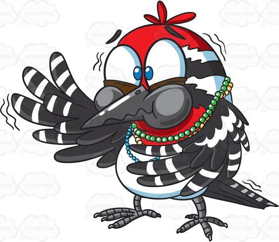 A choking little bird #cartoon #clipart #vector #vectortoons #stockimage #stockart #art